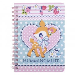 Sanrio A6 Twin Ring Notebook - Hummingmint / Strawberry