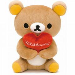 Japan San-X Plush with Heart - Rilakkuma