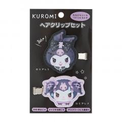 Japan Sanrio Plush Hair Clip Set - Kuromi / Romiare