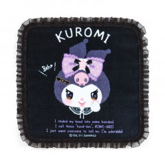 Japan Sanrio Handkerchief Petit Towel - Kuromi / Romiare