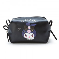 Japan Sanrio Leather Pouch - Kuromi / Romiare