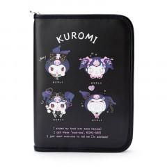 Japan Sanrio Leather Multi Case - Kuromi / Romiare
