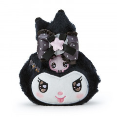 Japan Sanrio Face Purse - Kuromi / Romiare Black