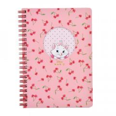 Japan Disney Twin Ring B6 Notebook - Marie / Cherry