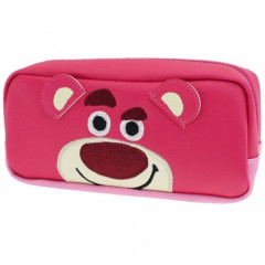 Japan Disney Makeup Pencil Bag Zipper Pouch - Toy Story Lotso Face
