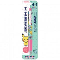 Japan Pokemon Sarasa Multi 4+1 Pen & Mechanical Pencil - Pikachu / Girly Collection