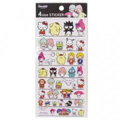 Japan Sanrio 4 Size Sticker - Sanrio Family