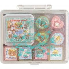 Japan San-X Stamp Chops Set (S) - Rilakkuma / Fairy Tale