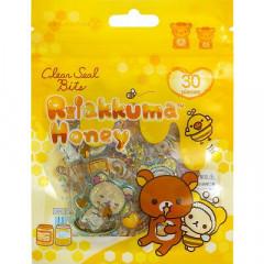 Japan San-X Clear Seal Bits Sticker Pack - Rilakkuma / Honey