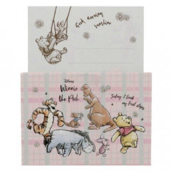 Japan Disney Mini Letter Envelope Set - Winnie The Pooh Picnic Pink