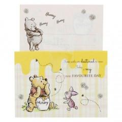 Japan Disney Mini Letter Envelope Set - Winnie The Pooh Picnic Yellow