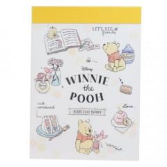 Japan Disney Mini Notepad - Winnie the Pooh & Piglet Food