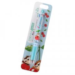 Japan Disney Sarasa Multi 4+1 Gel Pen & Mechanical Pencil - Chip & Dale / Cherry