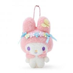 Japan Sanrio Keychain Plush - My Melody / Nakayo Hanbunko