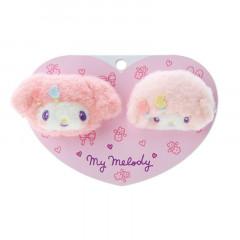 Japan Sanrio Mascot Hair Clip 2pcs Set - My Melody / Nakayo Hanbunko