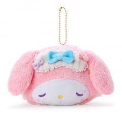Japan Sanrio Die-cut Fluffy Keychain Pouch - My Melody / Nakayo Hanbunko