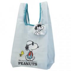 Japan Snoopy Ecot Mini Eco Shopping Bag - Snoopy Joe Cool & Woodstock