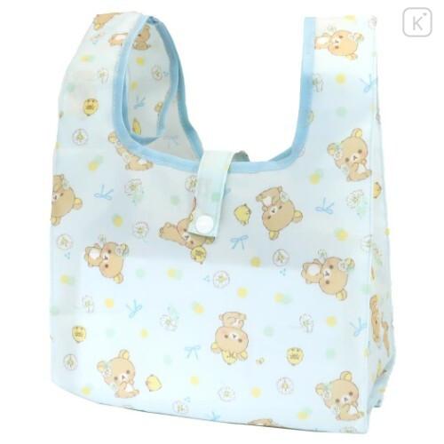 Japan San-X Convenience Eco Shopping Bag - Rilakkuma / Light Blue - 1