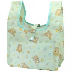 Japan San-X Convenience Eco Shopping Bag - Rilakkuma / Mentha Green