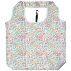 Japan Sanrio Smart Eco Shopping Bag - Little Twin Stars / Flower Blue