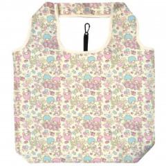 Japan Sanrio Smart Eco Shopping Bag - Little Twin Stars / Flower Yellow