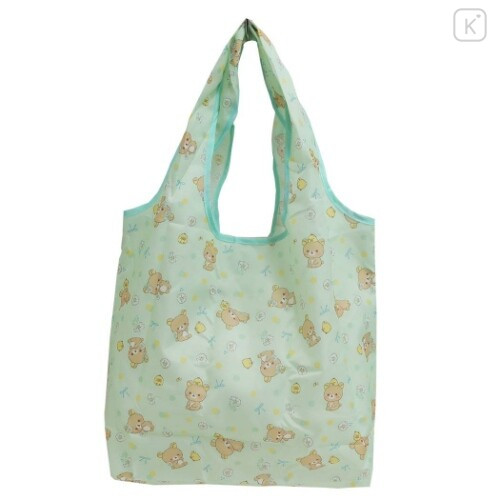 Japan San-X Smart Eco Shopping Bag - Rilakkuma / Mint - 1