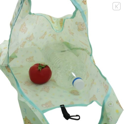 Japan San-X Smart Eco Shopping Bag - Rilakkuma / Mint - 2