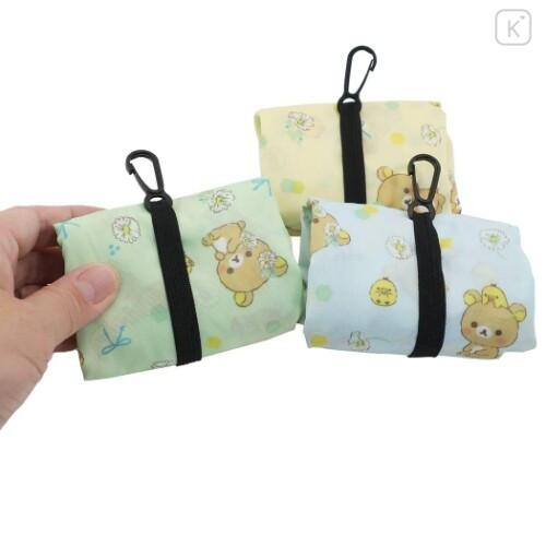 Japan San-X Smart Eco Shopping Bag - Rilakkuma / Mint - 4