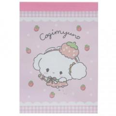 Japan Sanrio Mini Notepad - Cogimyun / Strawberry
