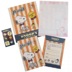 Japan Peanuts Letter Envelope Set - Snoopy / Bowtie