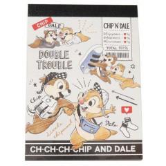 Japan Disney B8 Mini Notepad - Chip & Dale Double Trouble