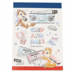 Japan Disney B8 Mini Notepad - Chip & Dale Naughty Brothers