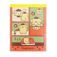 Japan Sanrio Mini Notepad - Pompompurin / Comic
