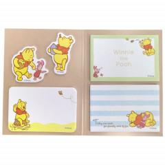 Japan Disney Sticky Notes Book - Winnie The Pooh & Piglet