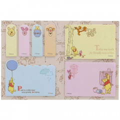 Japan Disney Sticky Notes Book - Winnie The Pooh / Balloon