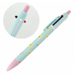 Japan Disney 2 Color Multi Ball Pen & Mechanical Pencil - Pooh & Piglet Face