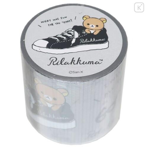 Japan San-X Yojo Masking Tape - Rilakkuma / Monochrome - 1
