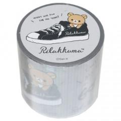Japan San-X Yojo Masking Tape - Rilakkuma / Monochrome