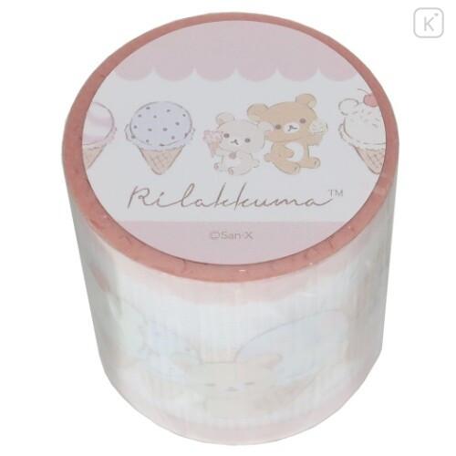 Japan San-X Yojo Masking Tape - Rilakkuma / Ice Cream - 1