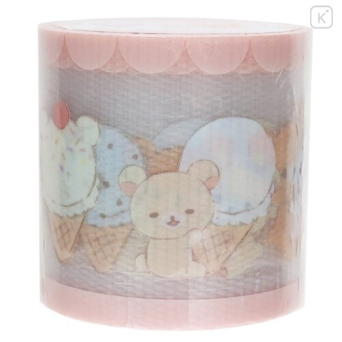 Japan San-X Yojo Masking Tape - Rilakkuma / Ice Cream - 2