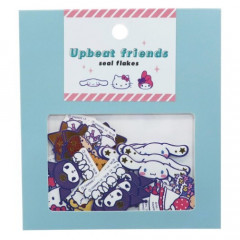 Japan Sanrio Upbeat Friends Seal Flakes Sticker - Mint