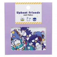 Japan Sanrio Upbeat Friends Seal Flakes Sticker - Purple