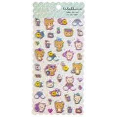 Japan San-X Bubble Aurora Foil Sticker - Rilakkuma / Rainbow