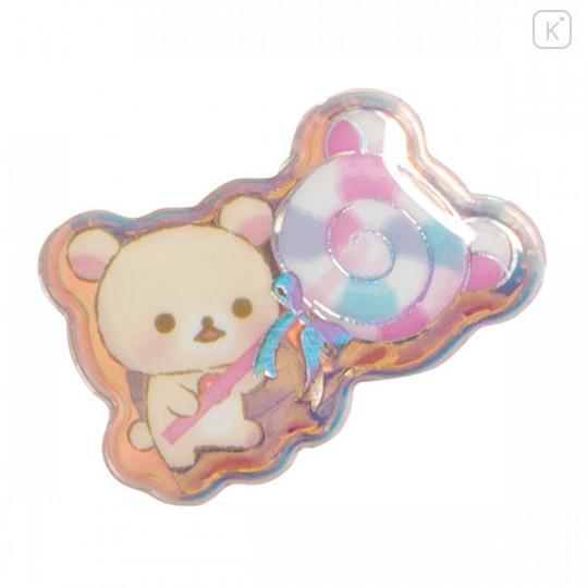 Japan San-X Bubble Aurora Foil Sticker - Rilakkuma / Sweets - 2