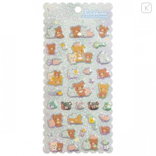 Japan San-X Bubble Aurora Foil Sticker - Rilakkuma / Friends of Chairoikoguma - 1