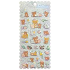 Japan San-X Bubble Aurora Foil Sticker - Rilakkuma / Friends of Chairoikoguma