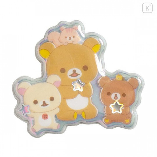 Japan San-X Bubble Aurora Foil Sticker - Rilakkuma / Friends of Chairoikoguma - 2