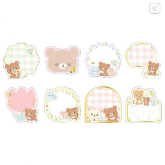 Japan San-X Writable Seal Bits Sticker - Rilakkuma / Friends of Chairoikoguma - 2