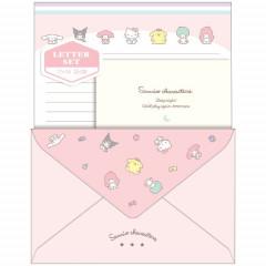 Japan Sanrio Letter Envelope Set - Crush Pink