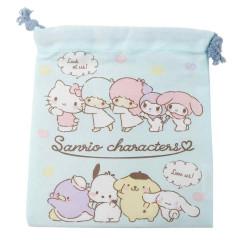 Japan Sanrio Drawstring Bag - Line up